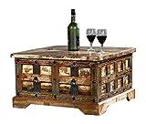 The Wood Times Couchtisch Tisch Massiv Vintage Look Delhi Holz...
